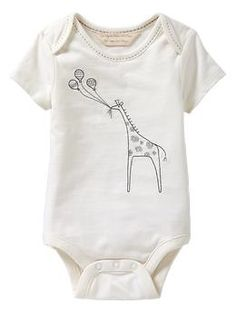 Organic embroidered bodysuit | Gap $19.95  Apparently baby Gap makes the best onesies.