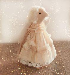 Rag doll handmade white angel toy Christmas present for her real feeling figurine handmade cloth rag doll angel figurine toy - pinned by pin4etsy.com Christmas Presents For Her, Cool Items, Kids Gifts, Art Dolls, Kids Toys, Etsy Seller, Flower Girl Dresses, White Angel, Fiber Art