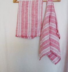 Linen dish towels kitchen towel  vintage look by LinenWoolRainbow