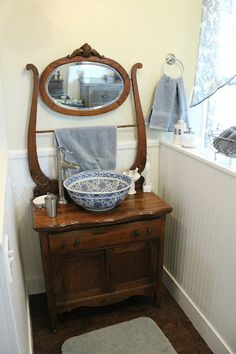Wash Stand Sink ~ could we do this with my wash stand?! @Michael Boyd