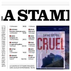 #SalvoSottile Salvo Sottile: Grazie di cuore amici. #Cruel n. 9 nella classifica generale Narrativa Italiana #LaStampa #Tuttolibri #ioleggocruel