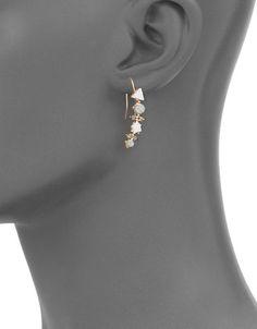 PLN 96.89 Marble-style stones accent elegant drop earrings