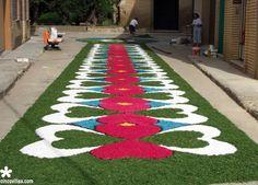 Corpus Christi, Simple Flower Rangoli, Plant Art, Azores, Magic Carpet, Rangoli Designs, Plant Design, Flower Decorations, Planting Flowers