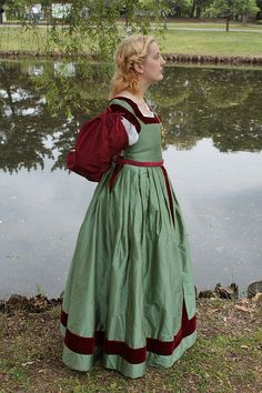 Unicorn Dress By Katherine B, An Italian Florentine dress and camicia based on Raphael's The Woman with the unicorn, 1505