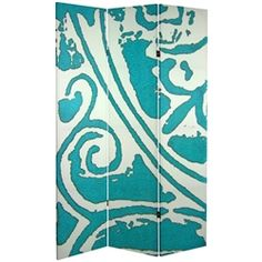 Like a warm summer breeze, this screen will bring you peace and tranquility all year long. This abstract art screen is sure to bring light and life to any room or office. This room divider screen is the same on both sides, perfect for those who seek balance.