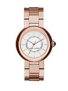 Marc Jacobs Courtney Rose Goldtone Stainless Steel Bracelet Watch - Ro