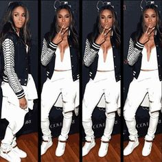 Ciara. This outfit is where it's at!!