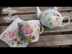 Como hacer decoupage en porcelana lavable en lavavajillas - YouTube