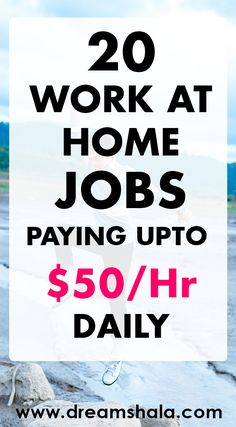 20 work at home jobs paying upto $50/ hr daily. #freelancejobs #freelanceservices #freelanceworkathomejobs #workathome #workfromhome #dreamshala #makemoneyonline
