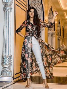 Buy Online Designer Long Kurtis For Wedding Sale. Latest Kurti Design 2020. Buy Kurtis Online For Cheap. Worldwide Shipping Available with Custom Stitching.#fancykurties#latest#designed#georgette#black