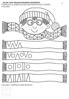 Fun Worksheets for Kids Fun Worksheets For Kids, Preschool Worksheets, Preschool Activities, Winter Crafts For Kids, Winter Kids, Shape Coloring Pages, Preschool Coloring Pages, Writing Skills, Kindergarten Math