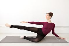 YouBeauty Editor Laura Kenney explains how Mary Helen Bowers Ballet Beautiful routine is whipping her into shape. Try the side leg lift to target your thighs and waist.