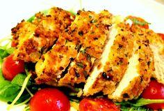 Crispy Lemon & Herb #Chicken - #Recipe #food