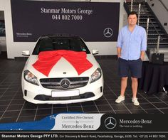 Congratulations to Mr. Dreyer on purchasing his We thank you and wish you many happy miles ahead from sold by Tanya - 044 802 Daimler Ag, Beach Road, Certified Pre Owned, Luxury Cars, Mercedes Benz, Congratulations, Automobile, Happy, Things To Sell