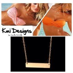 Gold Bar Celebrity Necklace