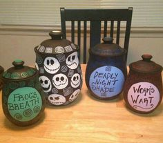 Nightmare before Christmas, Halloween, kitchen decor                                                                                                                                                                                 More