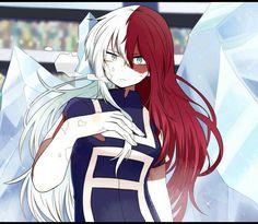 My Hero Academia Shoto Todoroki Cosplay Wig (Female) - Squinoo Anime Oc, Chica Anime Manga, Otaku Anime, Kawaii Anime, Anime Guys, My Hero Academia Shouto, My Hero Academia Episodes, Hero Academia Characters, Doki Doki Anime