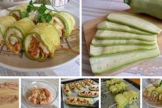 Rolls of squash with chicken Good Food, Yummy Food, Most Delicious Recipe, Polish Recipes, Polish Food, Russian Recipes, Squash, Pickles, Cucumber