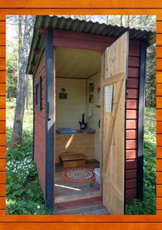 shed plans! Start building amazing sheds the easier way. with a collection of shed plans! Outside Toilet, Outdoor Toilet, Outdoor Baths, Outdoor Bathrooms, Wc Portable, Outhouse Bathroom, Composting Toilet, Building A Shed, Outdoor Living