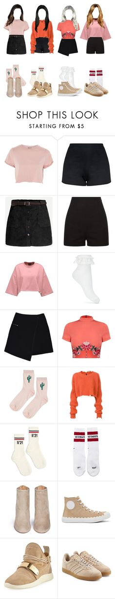 """Stage rehearsal"" by official-4squad ❤ liked on Polyvore featuring Topshop, La Perla, Miss Selfridge, MARC CAIN, Unravel, N°21, Vetements, Aquazzura, Chloé and Giuseppe Zanotti"