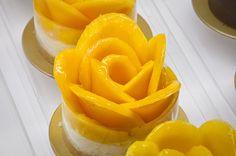 Mini mango cheesecake