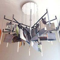 lichtconcept en hanglamp KrOOn Office + gerecyceld reclame materiaal