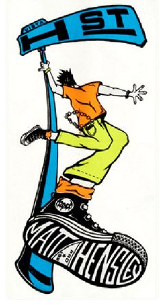 h-street skateboards | Matt Hensley H-street Skateboard Sticker