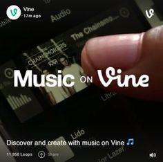 ONE: Vine ya permite agregar música a los videos