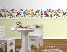 Colorful Birds Wall Border