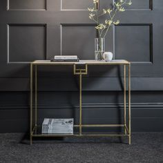 Gatsby Marble Top Console Table. Discover more: modernconsoletables.net   #marbleconsoletable #modernconsoletable #contemporaryconsoletable