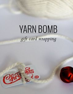 Gift Card Yarn Bomb - Gift card present ideas! Make It :: Gift Card Yarn Bombs Creative Birthday Ideas, Birthday Ideas For Her, Creative Gifts, Cool Gifts, Simple Gifts, Gag Gifts, Funny Gifts, Gift Card Presentation, Christmas Gift Wrapping