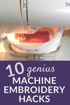 Top machine embroidery tips, tricks and hacks - Machine Embroidery Geek