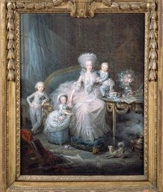 Marie Antoinette to Maria Theresa, 17 December 1774 image: the Comtesse de Artois with her children French History, European History, French Beauty, French Art, Marie Antoinette, Versailles, French Royalty, Maria Teresa, Work Inspiration
