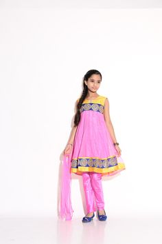 Buy Ashwini Girls Netted Embroidery Pink Salwar for Girls from age 2-8 years at Singlekart.com/ Currently available for Customers in Bangalore. #singlekart RHClothing