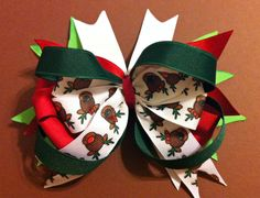 Roundabout reindeer. Splashes of holiday color by Fabowlush, $7.00