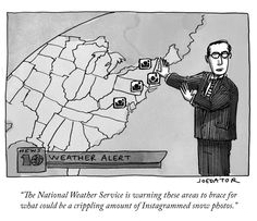 'The New Yorker' Demonstrates a Potential Social Media Threat Posed by Winter Storm Juno With a Clever Cartoon