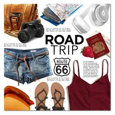 """Summer Road Trip Essentials"" by barbarela11 ❤ liked on Polyvore featuring H&M, Hollister Co., Beats by Dr. Dre and Billabong"