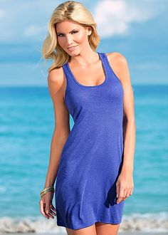 Royal blue Racerback dress from VENUS. Available in sizes S-XL! 5 fun colors available!