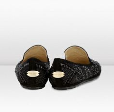 Jimmy Choo - Wheel - 132wheelbebt - Black Embroidered Suede Slippers - Wear these intricately embroidered slippers to intimate dinner parties with cropped trousers and a velvet blazer . The trend for elegant but masculine inspired slippers is here to stay.