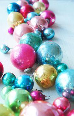 Colorful Mercury Glass Ornaments