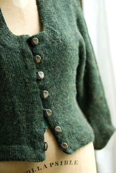 Interesting history on this pattern, Elizabeth Zimmermann's Green Sweater (SPP 13) in Schoolhouse Patterns. Makes me want to knit just because of the story.