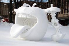 Snow sculptures