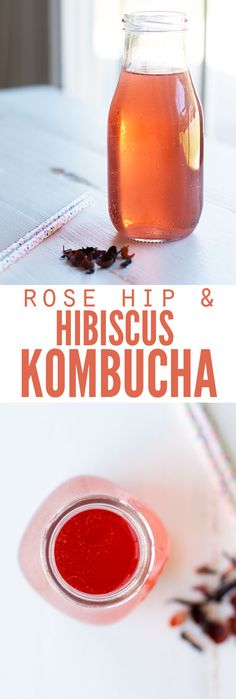 Boost your immune system with the benefits of rose hip and hibiscus kombucha. The idea for this kombucha flavor came from my daughter, and she loves it! :: DontWastetheCrumbs.com