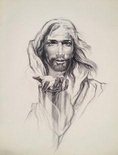 jesus pencil portrait