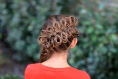 Diagonal Bow Braid | Cute Girls Hairstyles