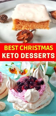 Here you can find the best low carb, gluten-free and keto desserts recipes for your Christmas Eve that includes awesome cookies and cakes. Keto Foods, Ketogenic Recipes, Keto Snacks, Ketogenic Diet, Keto Meal, Stevia, Low Carb Desserts, Healthy Desserts, Dessert Recipes