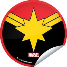 (New) Captain Marvel SDCC 2012 Sticker | GetGlue