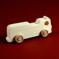 Firetruck Party Favors  Package of 10 Natural by nwtoycrafters, $25.00