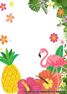 Free FREE Flamingo Invitation Baby Shower Templates : Perfect for Summer Luau Birthday Invitations, Free Printable Birthday Invitations, Disney Invitations, Flamingo Birthday, Flamingo Party, Baby Shower Templates, Baby Shower Invitation Templates, Tropical Party, Decoration