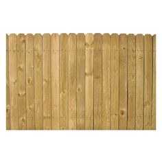 $24.29 4-ft x 8-ft Pine Stockade Wood Fence Panel $291.48